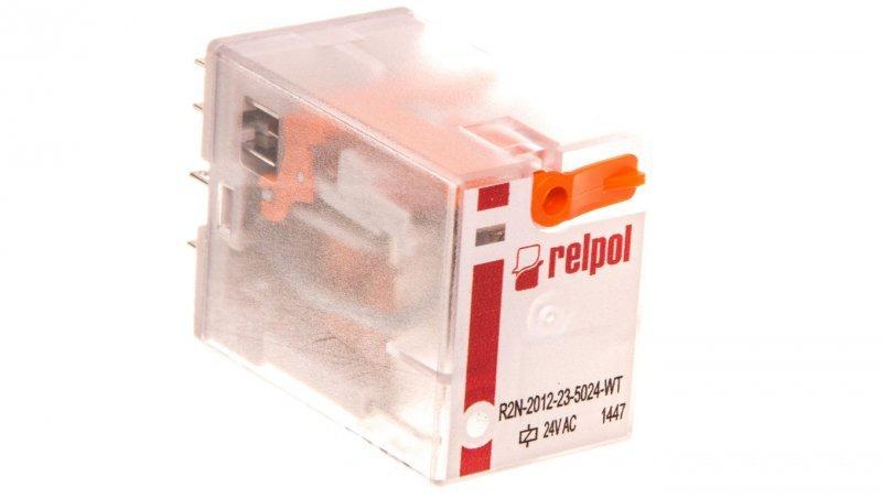 Przekaźnik przemysłowy 2P 24V AC AgNi R2N-2012-23-5024-WT 860940