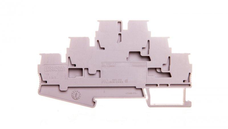 Złączka szynowa 3-piętrowa 0,08-4mm2 szara ST 2,5-3L 3036042