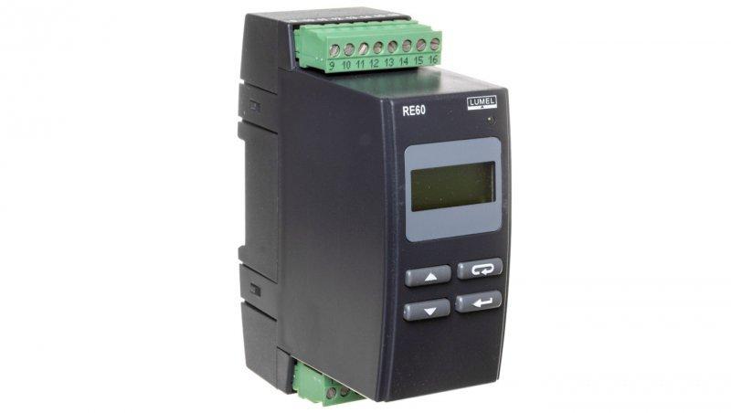 Regulator temperatury na szynę wejście NiCr-NiAl 0-1300st.C wyjście główne przekaźnikowe wyjście alarmowe 1 przekaźnik zasilanie