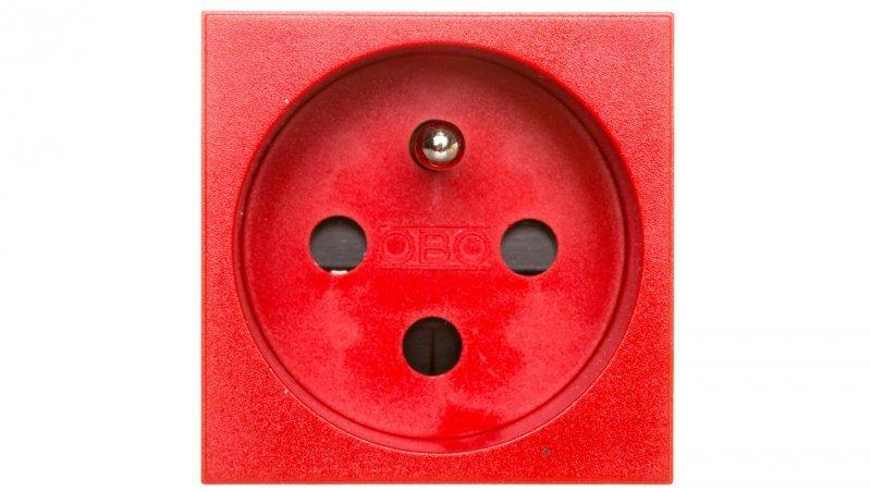 Gniazdo zasilające M45 pojedyncze z/u 16A czerwone STD-F0K SRO1 6120312