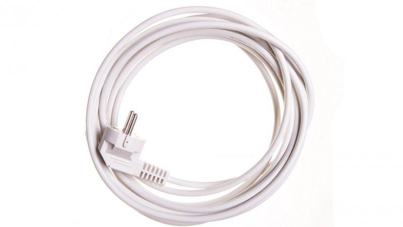 Przewód przyłączeniowy W-2 3x1,0 mm2 biały z wtyczką kątową 5m 51.929