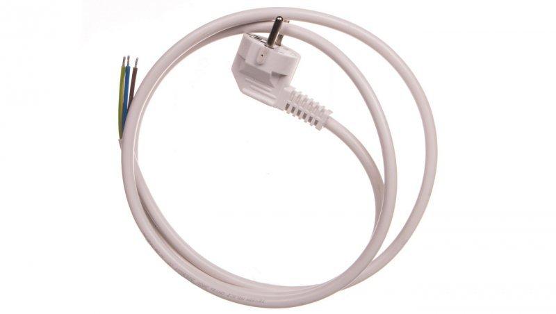 Przewód przyłączeniowy W-3 3x1,5 mm2 biały z wtyczką kątową 1,5m 51.931