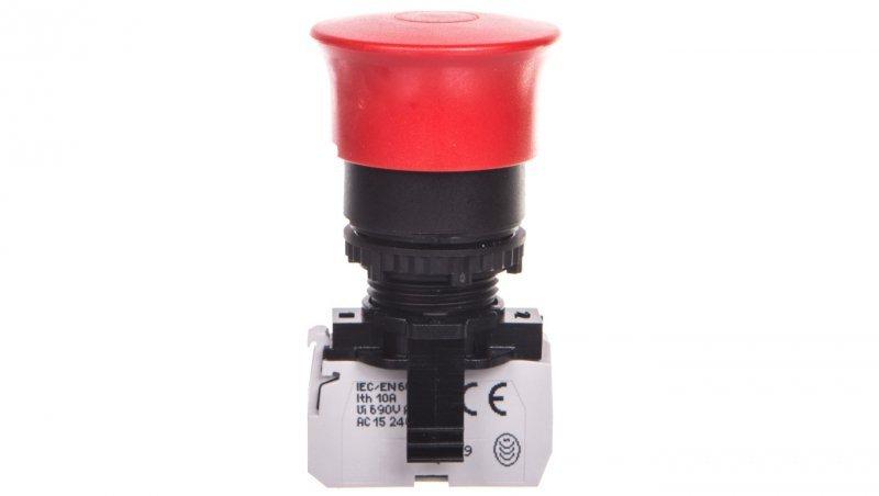 OSMOZ Komplet bez podświetlenia – przycisk grzybkowy czerwony STOP fi40 wyciągana + uchwyt 1R 023721