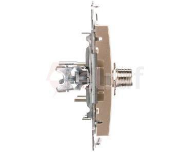 Simon 54 Gniazdo antenowe podwójne typu F złoty mat DASF2.01/44