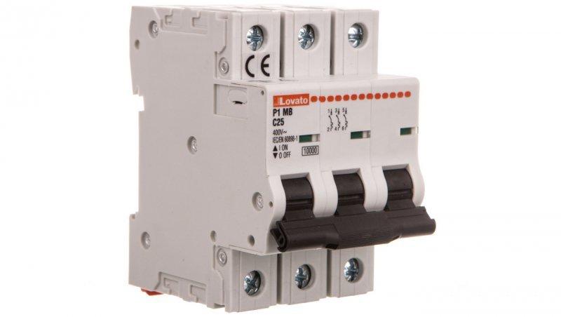 Wyłącznik nadprądowy 3P C 25A 10kA P1MB3PC25