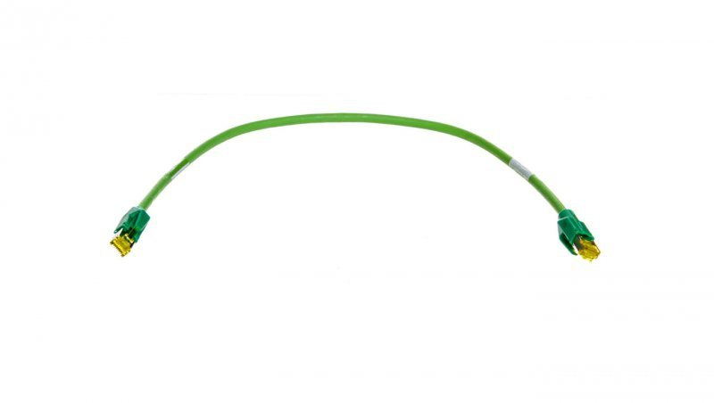 Kabel krosowy (Patch Cord) SF/UTP kat.6A zielony 0,5m 6XV1870-3QH50
