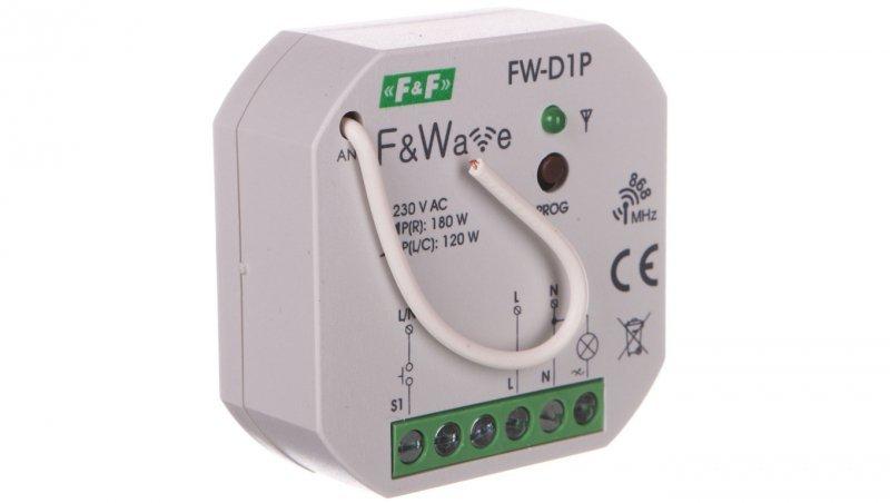 Radiowy ściemniacz uniwersalny 230V - montaż p/t 85-265V AC/DC FW-D1P