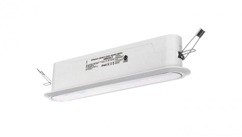 Oprawa awaryjna ARROW P LED 3W 1h jednozadaniowa AT biała ARPS/3W/E/1/SE/AT/WH