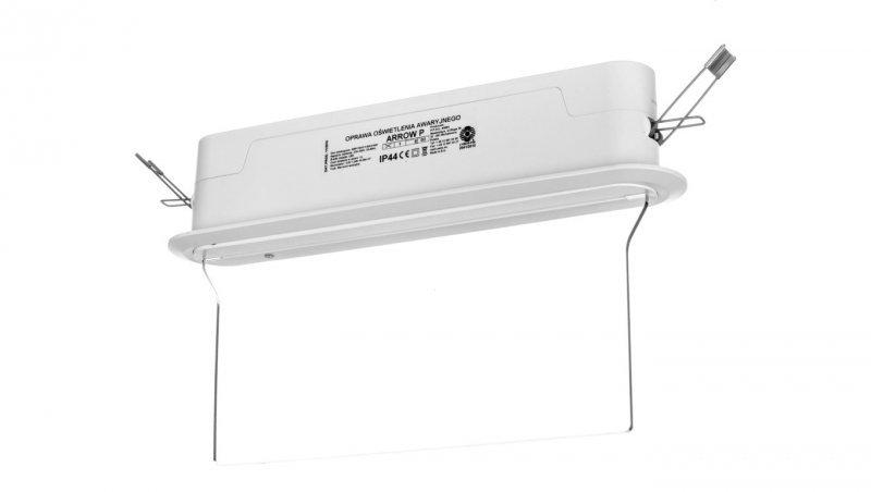 Oprawa awaryjna ARROW P LED 1W 1h dwuzadaniowa + PU31 PU41 biała ARP/1W/C/1/SA/X/WH