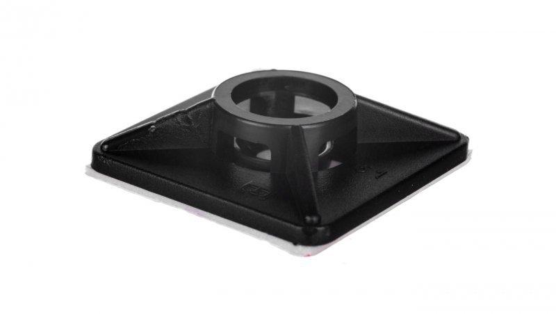 Podstawa przylepna 3,6mm 28x28mm klej czarna BMN0902E /100szt./