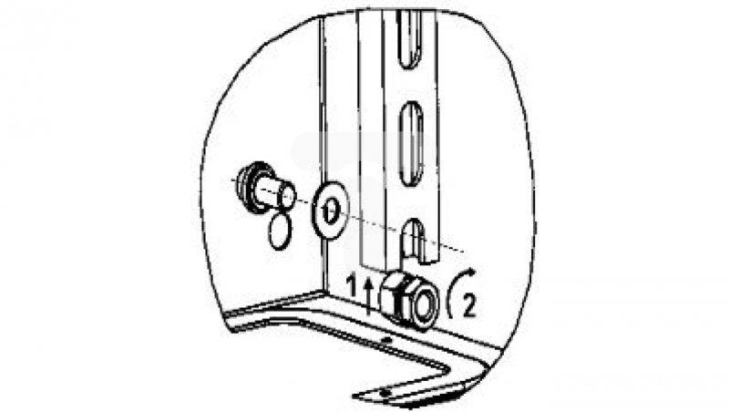 Symetryczna rama montażowa (6 szyn) dla obudowy o wymiarach wys.800xW600mm NSYMD86