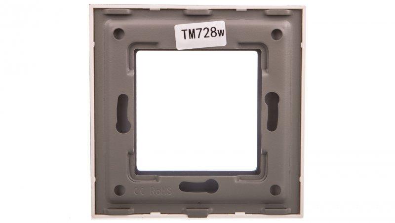 TouchMe Ramka pojedyncza szklana biała TM728W