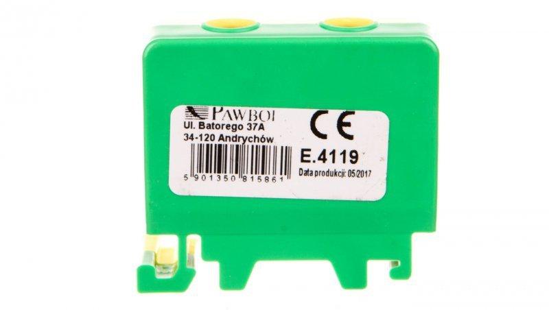Złączka szynowa ochronna 1x50mm2 zółto-zielona E.4119