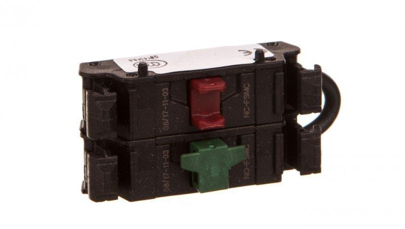 Styk pomocniczy płaski 1R z samokontrolą 1Z montaż czołowy M22-FK01SMC10 180793 M22-FK01SMC10 180793