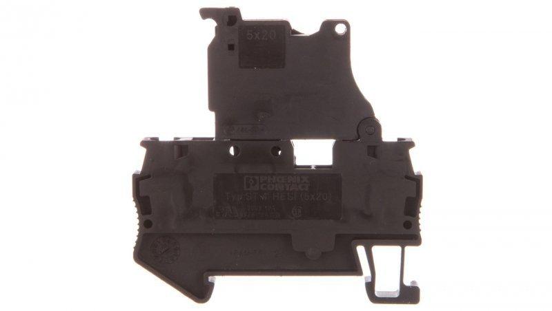 Złączka sprężynowa z bezpiecznikiem 5x20mm 2-przewodowa 0,08-6mm2 czarna ST 4-HESI (5x20) 3036369