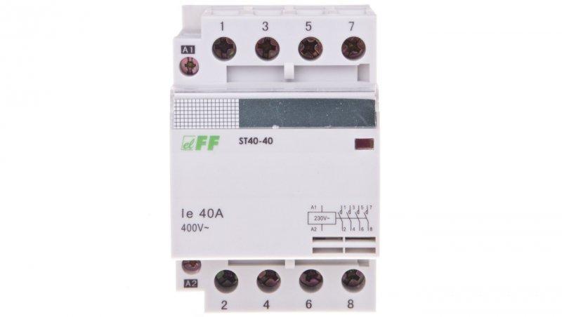 Stycznik modułowy 40A 4Z 0R 230V AC ST40-40