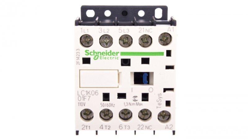Stycznik mocy 6A 3P 110V AC 0Z 1R LC1K0601F7