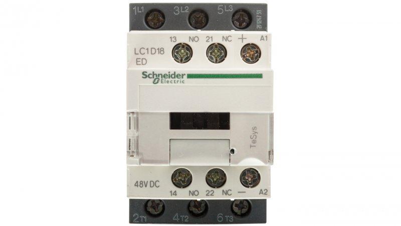 Stycznik mocy 18A 3P 48V DC 1Z 1R LC1D18ED