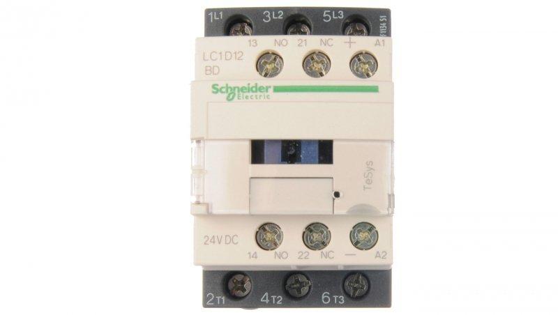 Stycznik mocy 12A 3P 24V DC 1Z 1R LC1D12BD