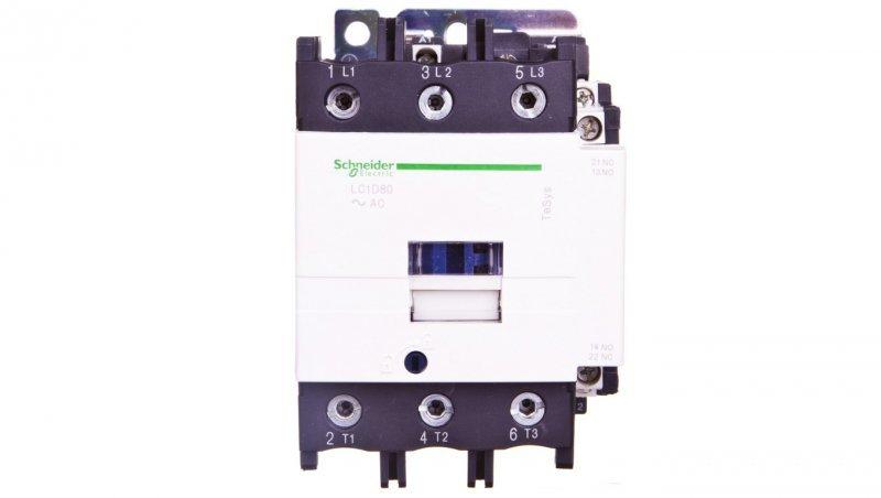 Stycznik mocy 80A 3P 24V AC 1Z 1R LC1D80B7
