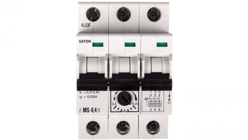 Wyłącznik silnikowy 3P 0,09kW 0,25-0,4A Z-MS-0,40/3 248404