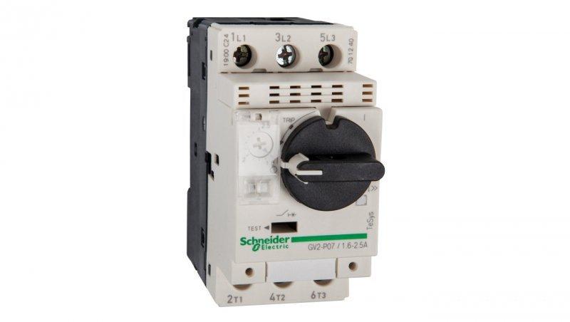 Wyłącznik silnikowy 3P 0,75kW 1,6-2,5A GV2P07