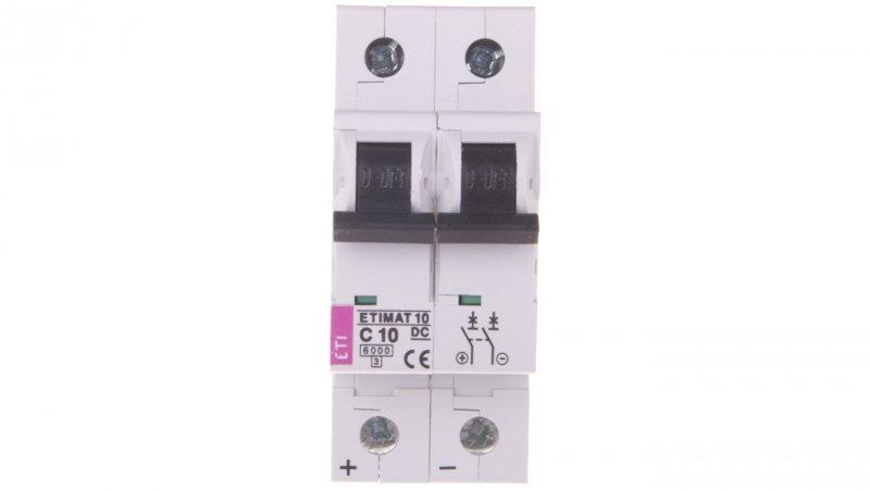 Wyłącznik nadprądowy 2P C 10A 6kA DC ETIMAT10 002138714