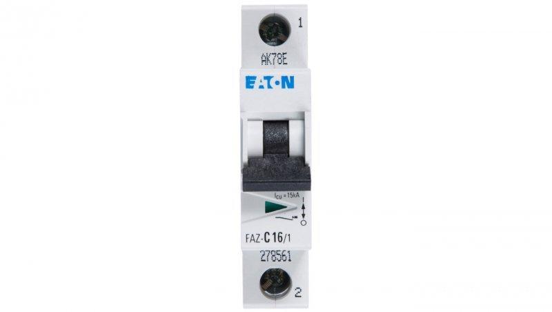 Wyłącznik nadprądowy 1P C 16A 15kA AC FAZ C16/1 278561