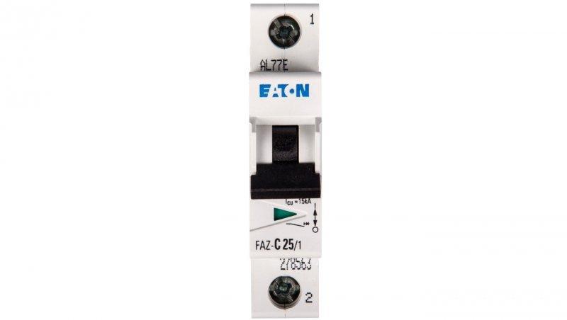 Wyłącznik nadprądowy 1P C 25A 15kA AC FAZ C25/1 278563