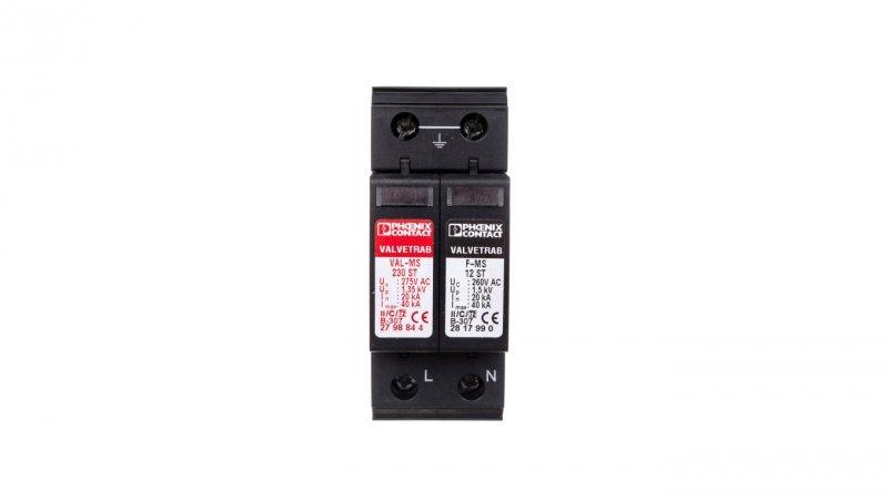 Ogranicznik przepięć C Typ 2 2P 2 20kA VAL-MS 230/1+1 2804429