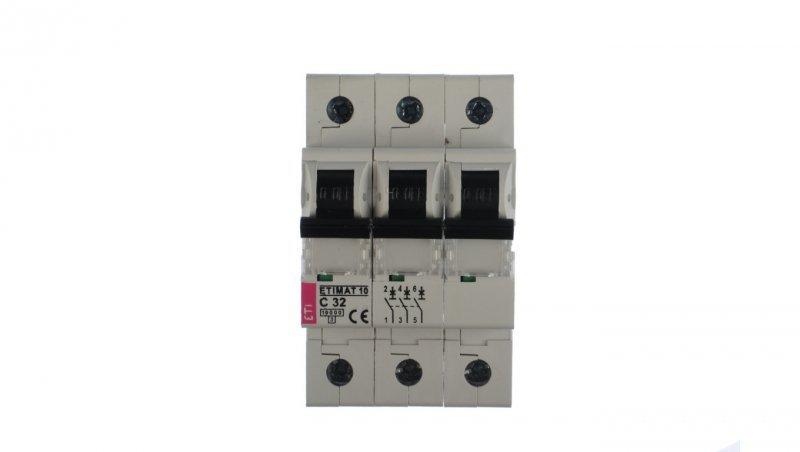 Wyłącznik nadprądowy 3P C 32A 10kA AC ETIMAT10 002135719