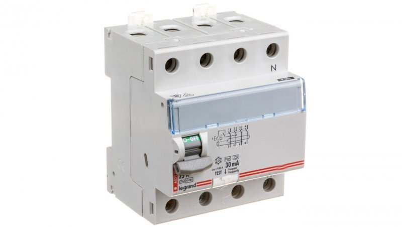 Wyłącznik różnicowoprądowy 4P 25A 0,03A typ HPI P304 DX3 411694