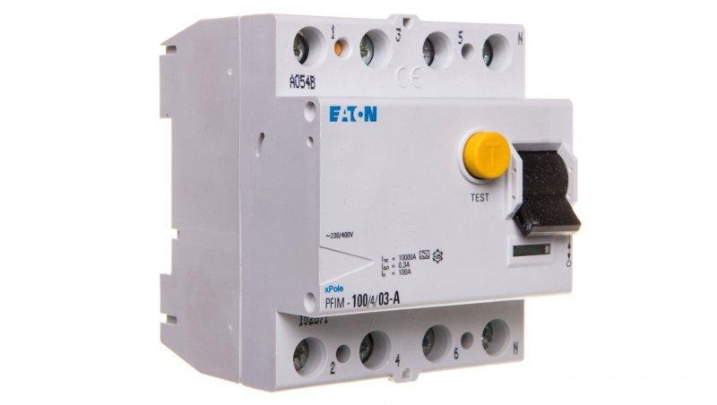 Wyłącznik różnicowoprądowy 4P 100A 0,3A typ A PFIM-100/4/03-A 102871
