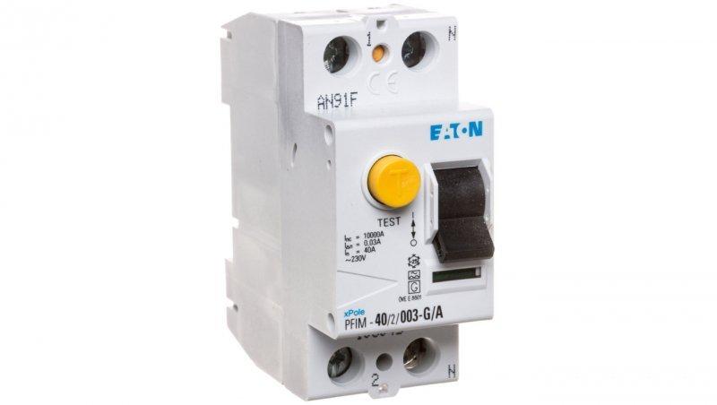 Wyłącznik różnicowoprądowy 2P 40A 0,03A typ A PFIM-40/2/003-G/A 108045