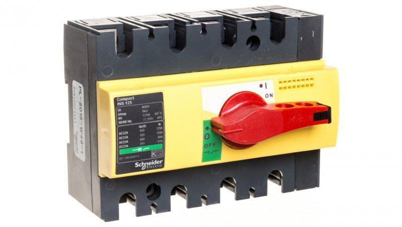 Rozłącznik izolacyjny 4P 125A INS125 28927