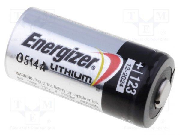 Bateria: litowa; 3V; CR123A,R123; PHOTO; Ø17x34,2mm; nieładowalna