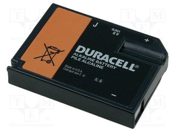 Bateria: alkaliczna; 6V; 4LR61,J; 9x35x48mm; nieładowalna