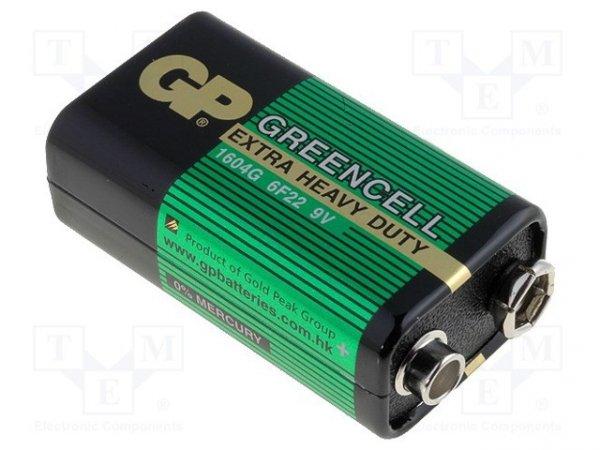 Bateria: cynkowo-węglowa; 9V; 6F22; GREENCELL; nieładowalna