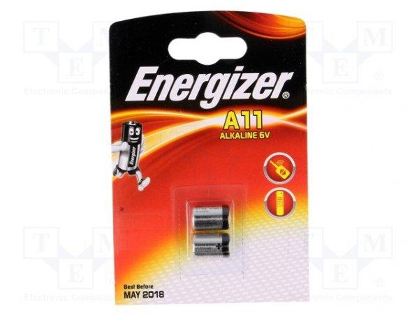 Bateria: alkaliczna; 6V; A11; Il.bat: 2; Ø10x16,5mm; nieładowalna