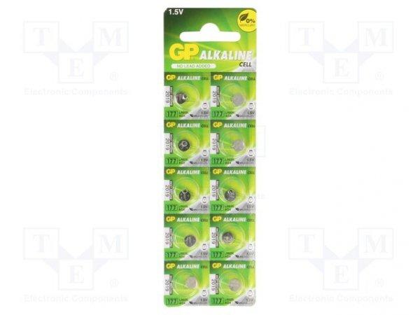 Bateria: alkaliczna; 1,5V; R626,SR66,pastylkowa; Il.bat: 10