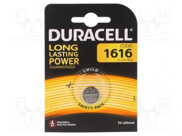 Bateria: litowa; 3V; CR1616,pastylkowa; Il.bat: 1; Ø16x1,6mm