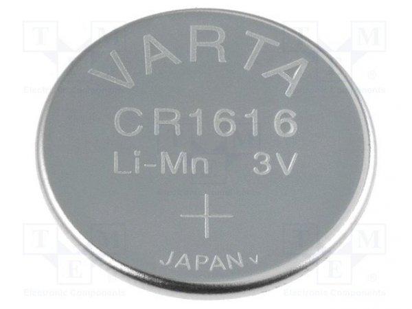 Bateria: litowa; 3V; CR1616,pastylkowa; Ø16x1,6mm; 55mAh