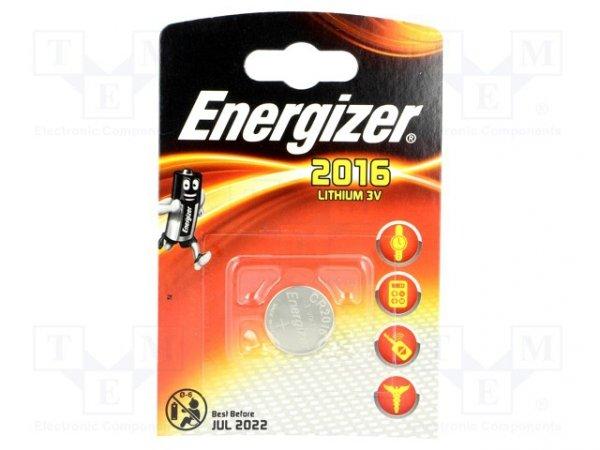 Bateria: litowa; 3V; CR2016,pastylkowa; Il.bat: 1; Ø20x1,6mm; 90mAh