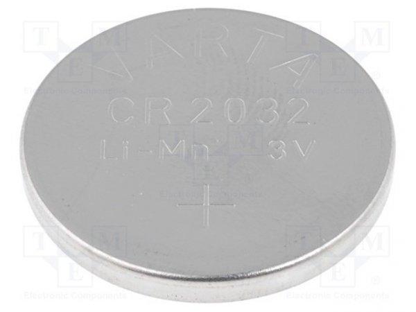 Bateria: litowa; 3V; CR2032,pastylkowa; Ø20x3,2mm; 230mAh