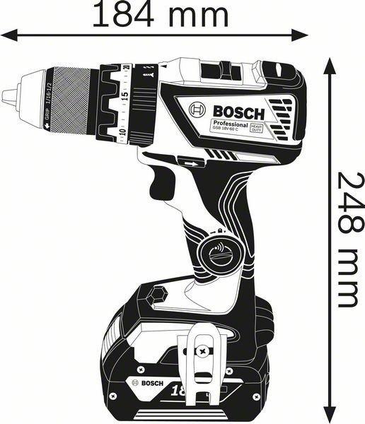 WIERTARKO-WKRĘTARKA AKU. UDAROWA GSB 18V-60 C 2*5.0AH L-BOX