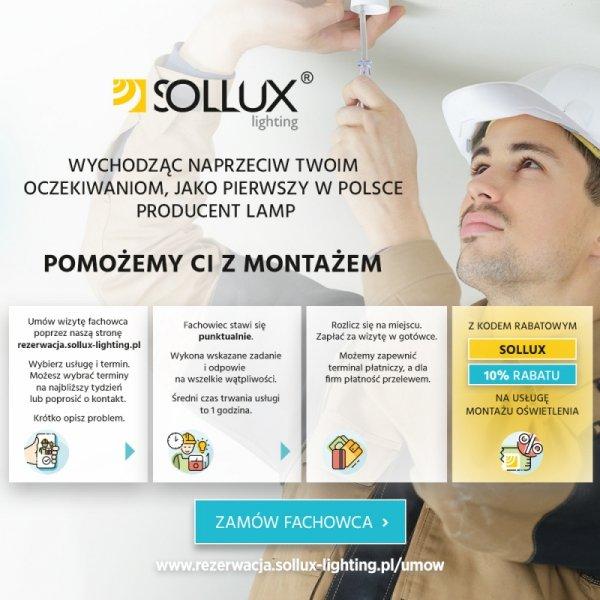Plafon LOBO MAXI Czarny