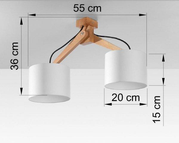 Plafon LEGNO 2 naturalne drewno