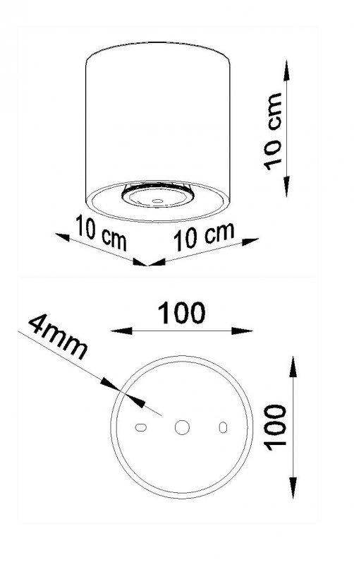 Plafon ORBIS 1 Antracyt