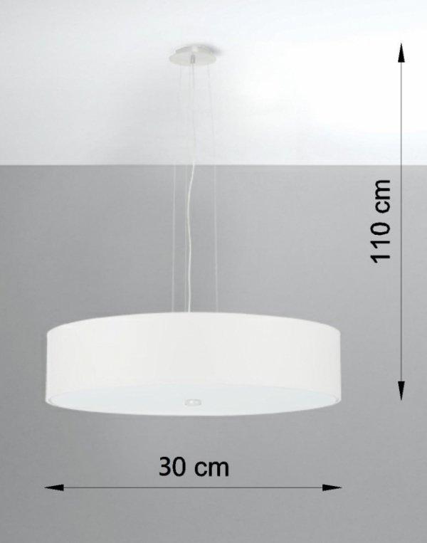 Żyrandol SKALA 50 biały