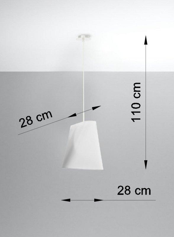 Żyrandol BLUM 1 biały